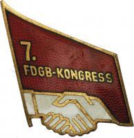 Abzeichen 7. FDGB-Kongress