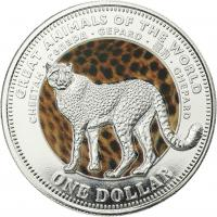 Fiji 1 Dollar 2009 Gepard (Serie A)