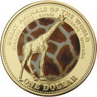 Fiji 1 Dollar 2009 Giraffe (Serie B)