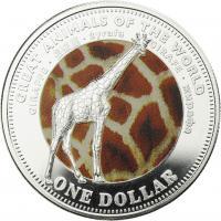 Fiji 1 Dollar 2009 Giraffe (Serie A)