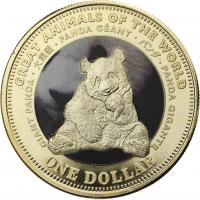 Fiji 1 Dollar 2009 Großer Panda (Serie B)