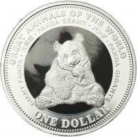 Fiji 1 Dollar 2009 Großer Panda (Serie A)