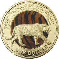 Fiji 1 Dollar 2009 Tiger (Serie B)
