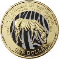 Fiji 1 Dollar 2009 Zebra (Serie B)