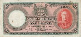 Fiji Inseln / Fiji Islands P.040e 1 Pound 1950  (4)