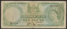 Fiji Inseln / Fiji Islands P.053g 1 Pound 1965 (5)