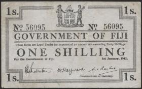 Fiji Inseln / Fiji Islands P.048a 1 Shilling 1942 (3+)
