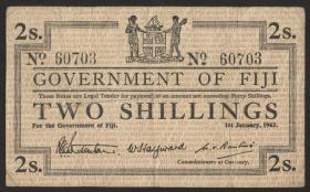 Fiji Inseln / Fiji Islands P.050a 2 Shillings 1942 (3)