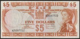Fiji Inseln / Fiji Islands P.073c 5 Dollars (1974) (3)
