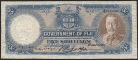 Fiji Inseln / Fiji Islands P.031c 5 Shillings 1935 (4/5)