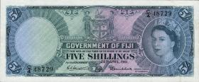 Fiji Inseln / Fiji Islands P.051b 5 Shillings 1961 (3+)