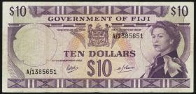 Fiji Inseln / Fiji Islands P.062 10 Dollars (1969) (3)