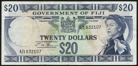 Fiji Inseln / Fiji Islands P.069b 20 Dollars (1971) (3)