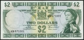 Fiji Inseln / Fiji Islands P.072b 2 Dollars (1974) (2)