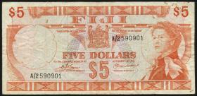 Fiji Inseln / Fiji Islands P.073b 5 Dollars (1974) (3-)