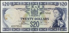 Fiji Inseln / Fiji Islands P.075b 20 Dollars (1974) (3)