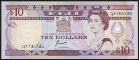 Fiji Inseln / Fiji Islands P.092 10 Dollars (1989) (2+)