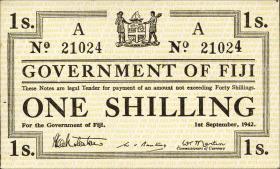Fiji Inseln / Fiji Islands P.049a 1 Shilling 1942 (1)