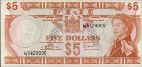 Fiji Inseln / Fiji Islands P.073c 5 Dollars (1974) (1)