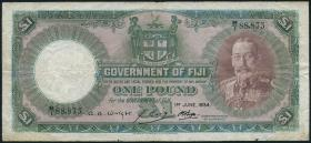 Fiji Inseln / Fiji Islands P.033b 1 Pound 1934 (4)