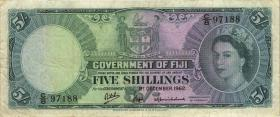 Fiji Inseln / Fiji Islands P.051c 5 Shillings 1962 (3)