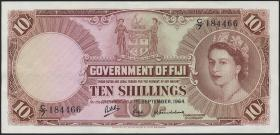 Fiji Inseln / Fiji Islands P.051d 10 Shillings 1964 (2)