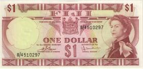 Fiji Inseln / Fiji Islands P.071b 1 Dollar (1974) (1)