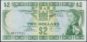 Fiji Inseln / Fiji Islands P.072b 2 Dollars (1974) (1)