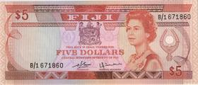 Fiji Inseln / Fiji Islands P.078 5 Dollars (1980) (2+)