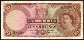 Fiji Inseln / Fiji Islands P.052a 10 Shillings 1957 (1)