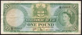 Fiji Inseln / Fiji Islands P.053f 1 Pound 1964 (3)