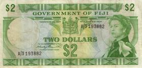 Fiji Inseln / Fiji Islands P.066a 2 Dollars (1971) (3)