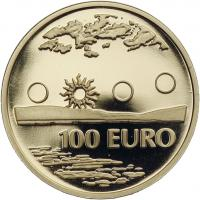 Finnland Gold 100 Euro 2002 Mitternachtssonne