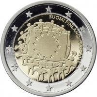 Finnland 2 Euro 2015 30 Jahre EU-Flagge PP