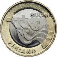 Finnland 5 Euro 2013 Karelia / Wasserkraftwerk PP