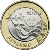 Finnland 5 Euro 2013 Karelia / Wasserkraftwerk