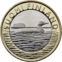 Finnland 5 Euro 2014 Savo / Prachttaucher