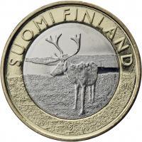 Finnland 5 Euro 2015 Lappland / Rentier