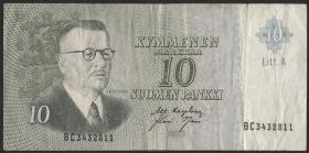 Finnland / Finland P.104a 10 Markkaa 1963 (3)