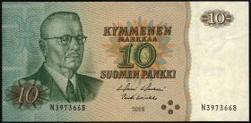 Finnland / Finland P.111 10 Markkaa 1980 Paasikivi (4 Kreise) (1-)