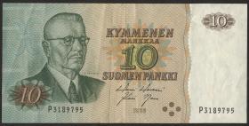 Finnland / Finland P.111 10 Markkaa 1980 Paasikivi (4 Kreise) (3)