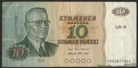 Finnland / Finland P.112 10 Markkaa 1980 Paasikivi (5 Ringe) (3)