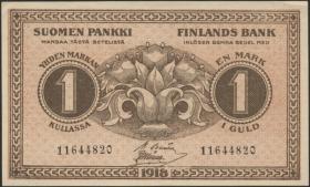 Finnland / Finland P.035 1 Markkaa 1918 (1)