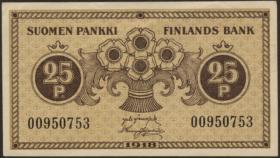 Finnland / Finland P.033 25 Penniä 1918 (2/1)