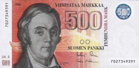 Finnland / Finland P.120 500 Markkaa 1986 (1991) (1)