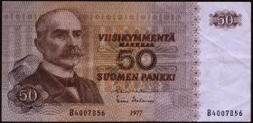 Finnland / Finland P.108 50 Markkaa 1977 (3)