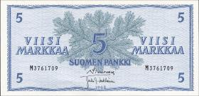 Finnland / Finland P.099 5 Markkaa 1963 (1)