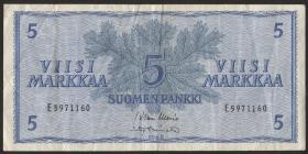 Finnland / Finland P.099 5 Markka 1963 (3)
