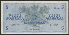 Finnland / Finland P.103 5 Markkaa 1963 Litt. A (3)
