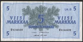 Finnland / Finland P.106A 5 Markkaa 1963 Litt. B (3)